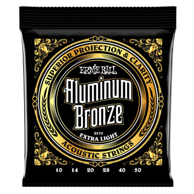 Ernie Ball Extra Light Aluminum Bronze Acoustic Guitar Strings - 10-50 Gauge