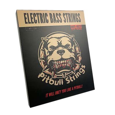 Premium Electric Bass 4 Strings  45-100 - Pitbull Strings Gold Series - GEB4-L