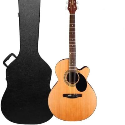 Jasmine S34C Orchestra & Auditorium Venetian Cutaway Spruce Top 6-String Acoustic Guitar w/Hard Case for sale