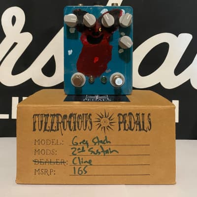 Fuzzrocious Grey Stache - Hand Painted by Raeven Ratjski