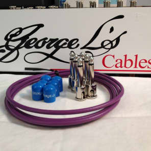 George L's 155 Guitar Pedal Cable Kit .155 Purple / Blue / Nickel - 6/6/6