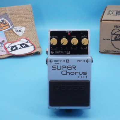 Boss CH-1 Super Chorus | Vintage 1989 Blue Label (Analog Version) | Fast Shipping!