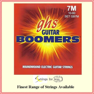 GHS Strings GB7M Boomers 7-String Medium Heavy Electric Guitar Strings (10-60) for sale