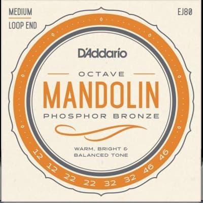 D'Addario EJ80 Octave Mandolin Set Phosphor Bronze