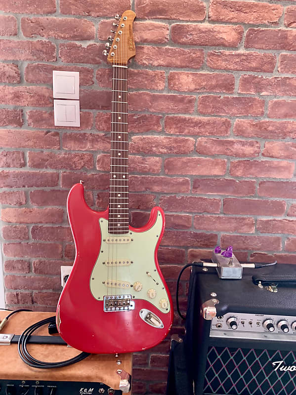 xotic xsc 1 california strat 2018 fiesta red light aged reverb. Black Bedroom Furniture Sets. Home Design Ideas