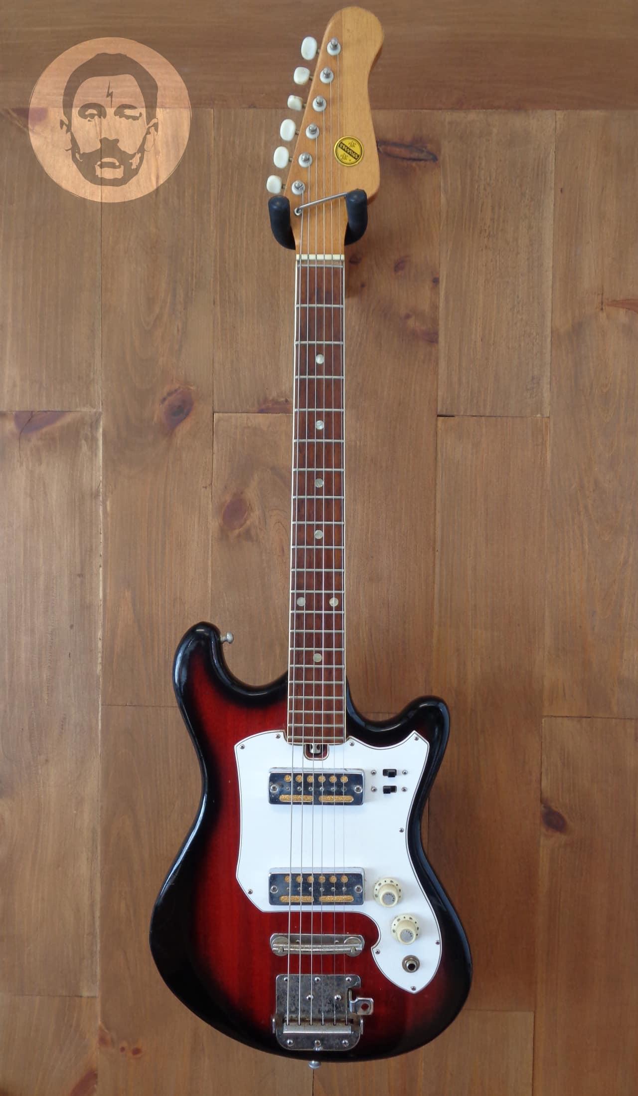 Teisco Prestige Electric Guitar Ibanez Rga42 Wiring Diagram Redburst Dual Gold Foil Pickups Reverb 1280x2196
