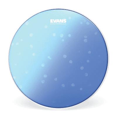 "Evans B14HB Hydraulic Blue Snare Batter Drum Head - 14"""