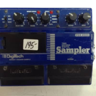 Digitech PDS 2000 two second digital Sampler 1970,80,s blue