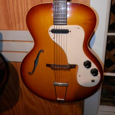 Epiphone Granada, Vintage 1960s, Sunburst, single coil - Includes case - Used for sale