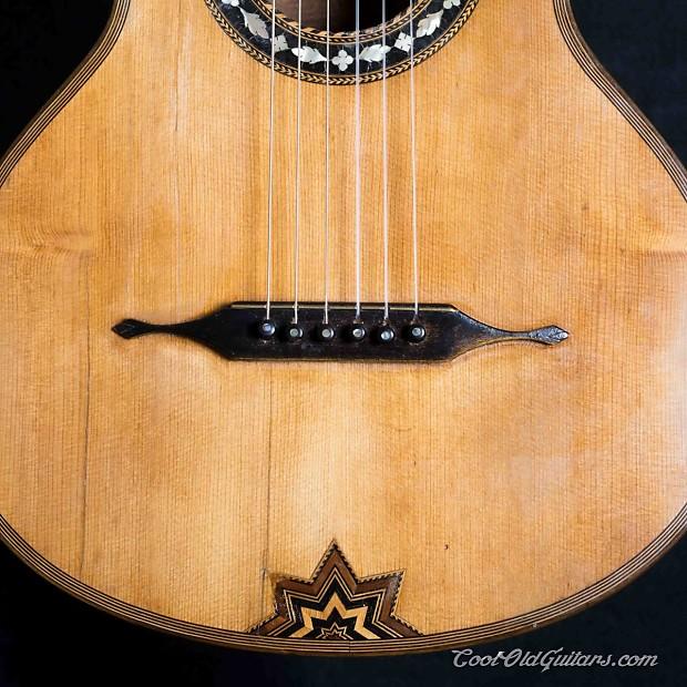 antique 1800s german romantic flat top guitar with elaborate reverb. Black Bedroom Furniture Sets. Home Design Ideas
