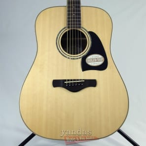 Ibanez AW535 NT Artwood Solid Top Dreadnought Acoustic/Electric Guitar Natural