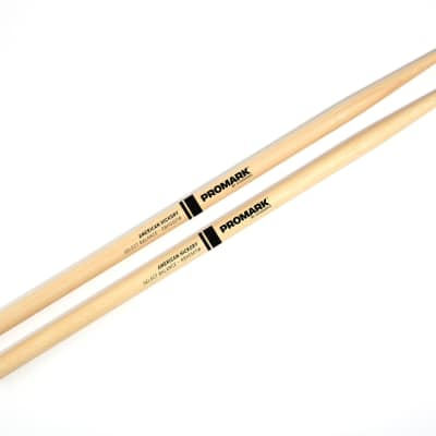 "Promark RBH550TW 5A Rebound Balance Teardrop Woodtip Hickory Drumsticks - .550"""