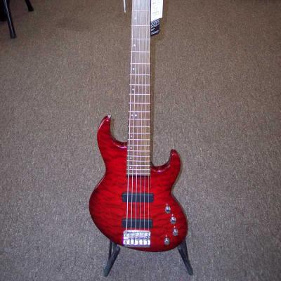 Samick  Greg Bennett FN5-6 Design Fairlane 2004 Quilted  Red for sale