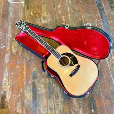 Yamaki YB-300 dreadnought acoustic guitar  c 1970's Buffalo head headstock original vintage mij japan Yairi for sale