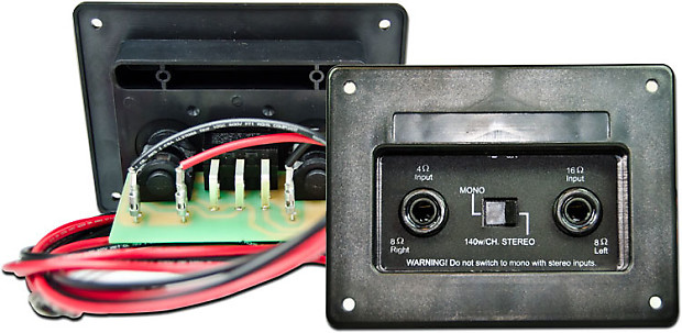 Mojotone Oem Stereo  Mono Cabinet 4x12 Wired Jack Plate