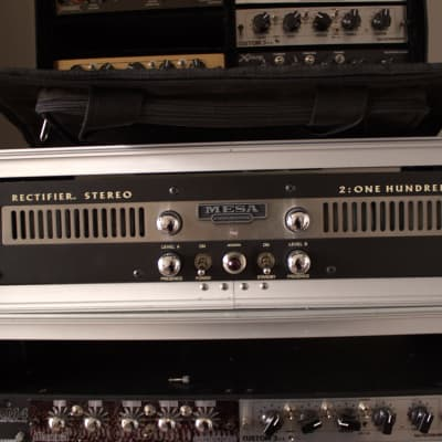 Mesa Boogie Recto® 2:100™ Power Amplifier w/ 2u Shallow Gator Rack Case