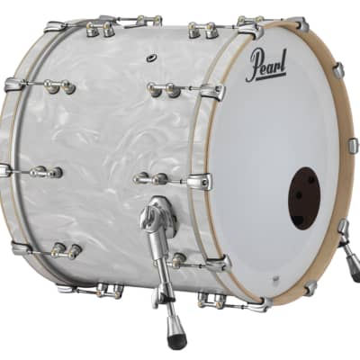 "Pearl Music City Custom Reference Pure 24""x14"" Bass Drum w/Mt White Satin Moire"