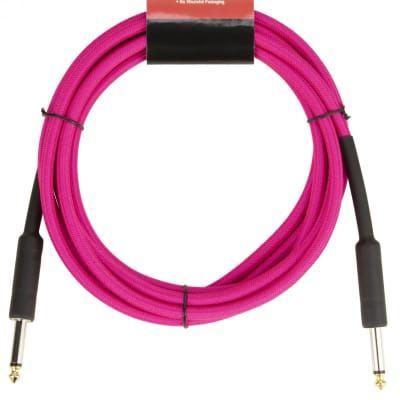 Strukture 10' Instrument Cable, 6mm Woven, Neon Pink