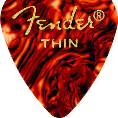 Fender Classic Celluloid 351 Shape Picks Thin Tortoise Shell 12 Count for sale