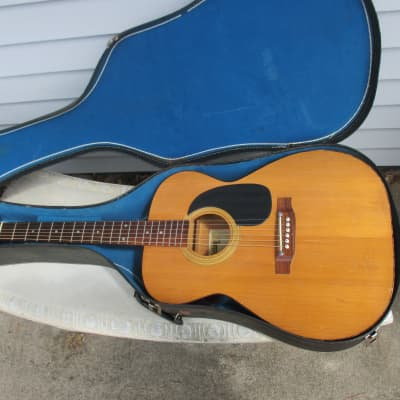 Vintage Gallan F-300 Acoustic Guitar with Case MIJ for sale