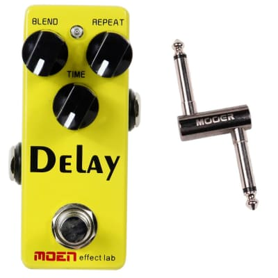 MOEN MN-DL Analog Delay 600 mls NEW MINI Series PEDALS from MOEN + Mooer PC-Z Jack  FREE Shipping