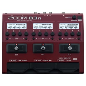 Zoom B3N Multi-Effects Bass Processor