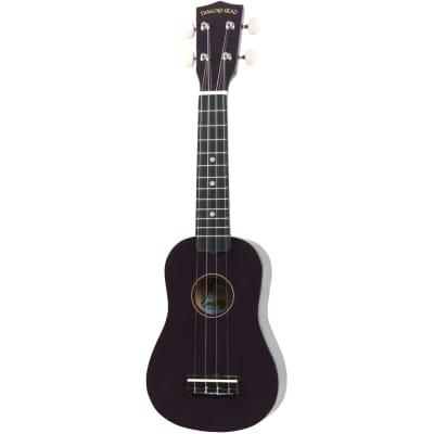 Diamond Head DU-108 Rainbow soprano ukulele, purple with gig bag for sale