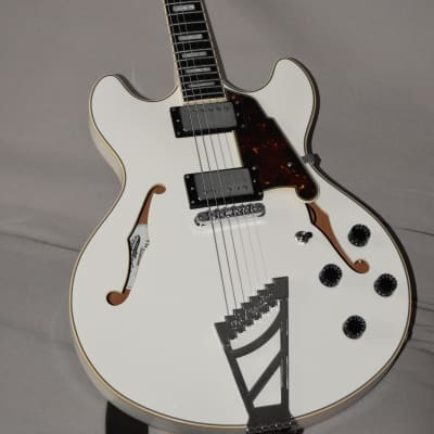 D'Angelico Premier DC Semi-Hollow Double Cutaway with Stairstep Tailpiece 2020 White