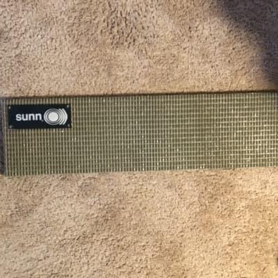 Sunn 200S bass amp head grill cloth panel  with Sunn Badge 66-69 ? for sale