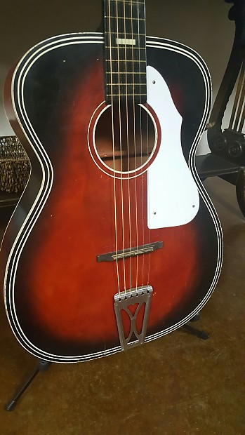 stella acoustic guitar 60s red harmony grand auditorium reverb. Black Bedroom Furniture Sets. Home Design Ideas