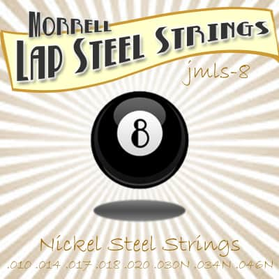 Morrell JMLS-8 Nickel Steel Lap Steel Guitar 8-String Set for C-6 Tuning for sale