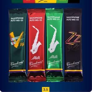 Vandoren SRMIXA35 Alto Saxophone Mix Card Reed Variety Pack - Strength 3.5