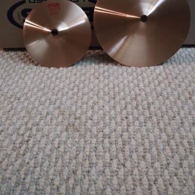 "Paiste 2002 6"" & 8"" accent cymbal 2020 b8 bronze"