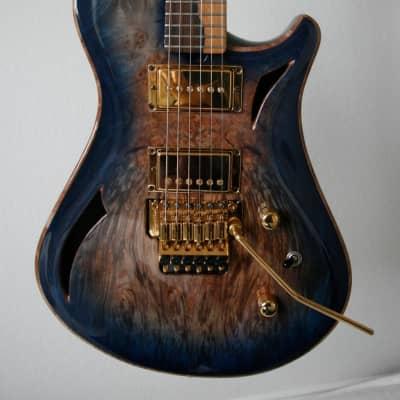 Brubaker Custom-Built KXG-1 Electric Guitar 2011 Waterfall Burl Top for sale