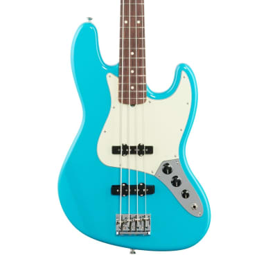 Fender American Pro II Jazz Bass, Rosewood Fingerboard (with Case), Miami Blue