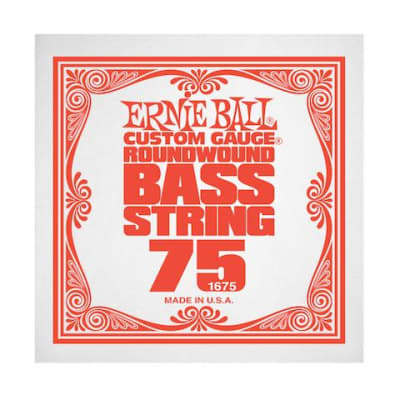 Ernie Ball 1675 75 Roundwound Bass Single String