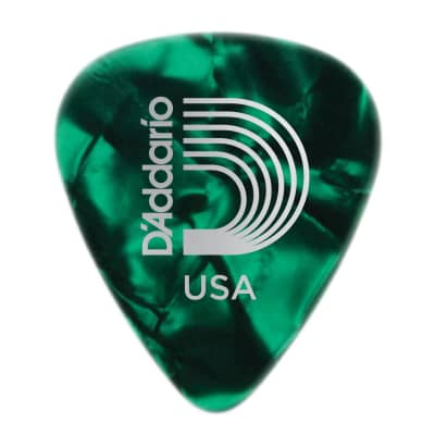 Planet Waves Celluloid Green Pearl Picks - Medium - 100-Pack for sale