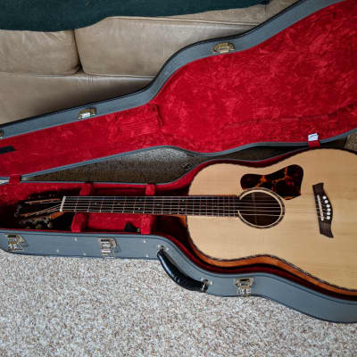 Osthoff 12-Fret Slope Jumbo  2015 Natural Quilted Mahogany and Red Spruce for sale