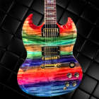 Gibson Custom SG Elegant Figured Aurora Borealis image