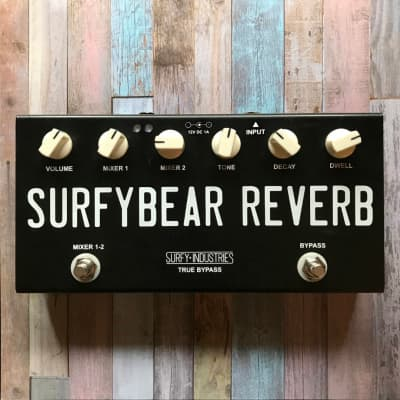Surfy Industries SurfyBear Compact (Black) - Spring Reverb Pedal - Fast Free Shipping in U.S.!