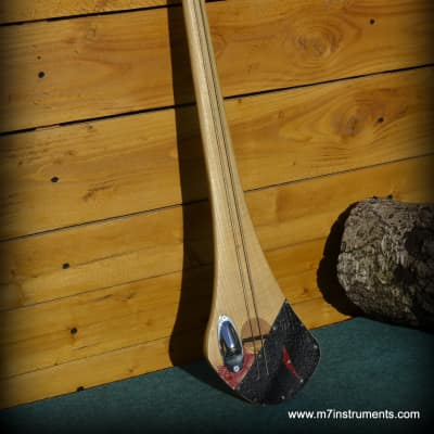 M7instruments Hurley Stick Bass left hand 2 cordes fretless 2016 bois et cuir for sale