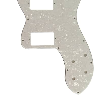 For Fender Tele Classic Player Thinline PAF Guitar Pickguard Scratch Plate,4 Ply White Pearl