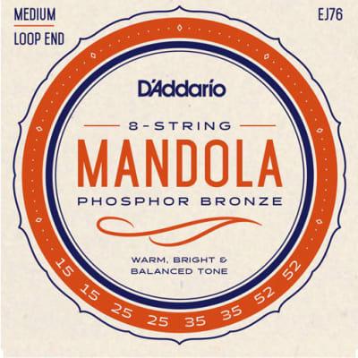 D'Addario EJ76 Phosphor Bronze Mandola Strings, Medium, 15-52