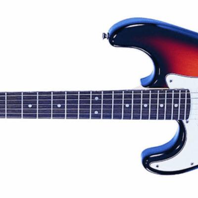NEW! Vintage Brand LV6SSB left handed lefty electric guitar in sunburst