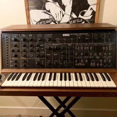 Korg PS-3100 Polyphonic Synthesizer +Kenton Midi+Flight case (New!)