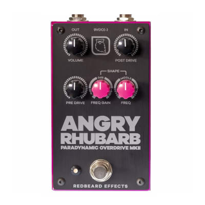 Redbeard Effects Angry Rhubarb Paradynamic Overdrive Mk II Guitar Effect Pedal