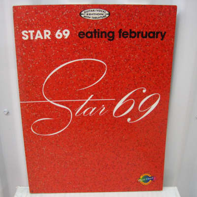 Star 69 Eating February Sheet Music Song Book Songbook Guitar Tab Tablature