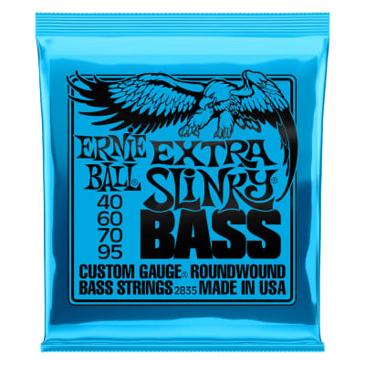 Ernie Ball Extra Slinky Nickel Wound Electric Bass Strings - 40-95 Gauge 2835