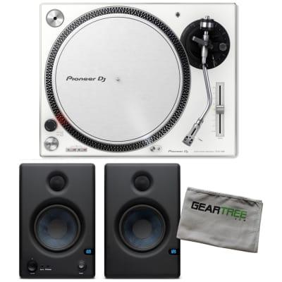 46aa52b20c3 Pioneer DJ PLX-500-W White Direct Drive Turntable w Studio Monitors and