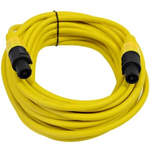 Seismic Audio TW12S35YELLOW 12-Gauge Speakon to Speakon Speaker Cable - 35'